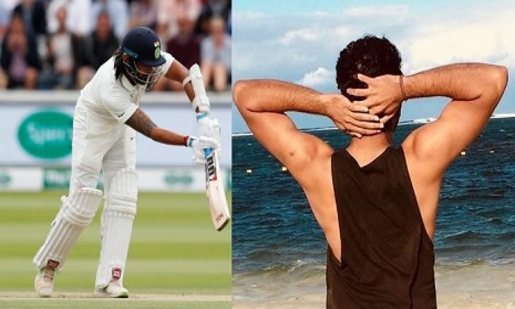 लॉर्ड्स टेस्ट में भारत के ओपनर के फ्लॉप होने के बाद रोहित शर्मा ने ऐसा कहकर लिए मजे, जानिए Images