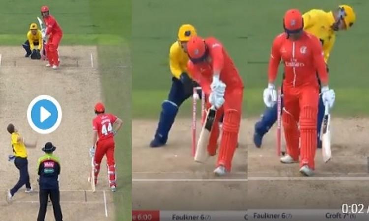देखिए कैसे इस स्पिनर ने इंग्लैंड घरेलू टी20 में अपनी रहस्य भरी गेंद पर बल्लेबाज को किया बोल्ड VIDEO
