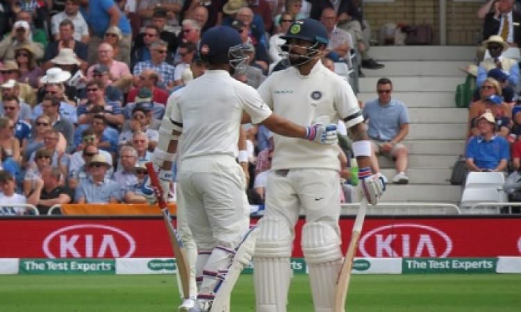 ट्रेंट ब्रिज टेस्ट के पहले दिन कोहली और रहाणे ने जड़ा अर्धशतक, बनाए मिलकर ऐसा कमाल का रिकॉर्ड Images