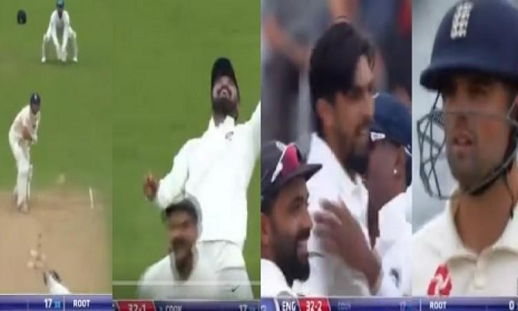VIDEO देखिए कैसे इशांत शर्मा की अद्भूत गेंद पर एलिस्टेयर कुक हुए आउट, देखकर हैरानी होगी