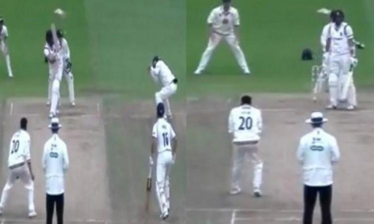अक्षर पटेल ने काउंटी क्रिकेट में लपका ऐसा कैच जिसे देखकर आपको यकिन नहीं होगा WATCH Images