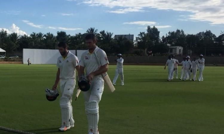 अनाधिकारिक टेस्ट में आस्ट्रेलिया-ए ने पहले दिन बनाए 290 रन, मिशेल मार्श और ट्रेविस हेड ने जड़ा अर्धश