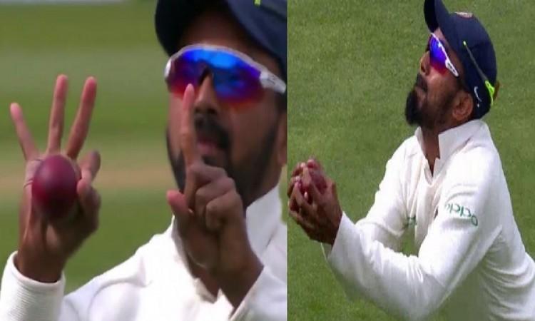 WATCH देखिए जब केएल राहुल ने स्टुअर्ट ब्रॉर्ड का चौंकाने वाला कैच लपक लिया तो किया ऐसा इशारा Images