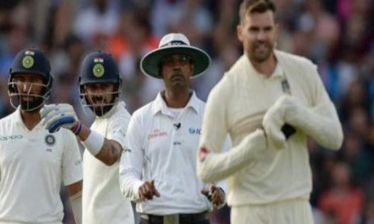 कोहली का विकेट ना ले पाने की बौखलाहट में जेम्स एंडरसन ने लाइव मैच में कर दी थी ऐसी हरकत VIDEO Images