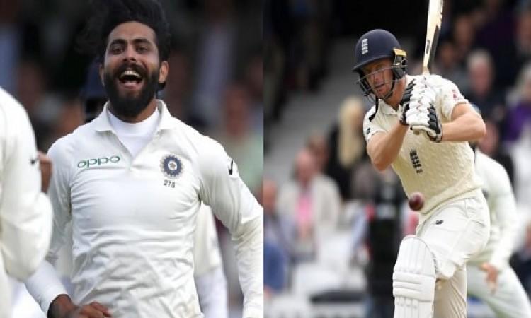 शतक से चुके जो बटलर लेकिन इंग्लैंड की पहली पारी को पहुंचाया 332 रन, जडेजा के नाम 4 विकेट दर्ज Images