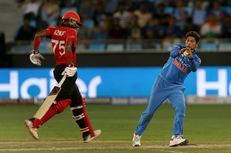 Kuldeep Yadav During The Match Images