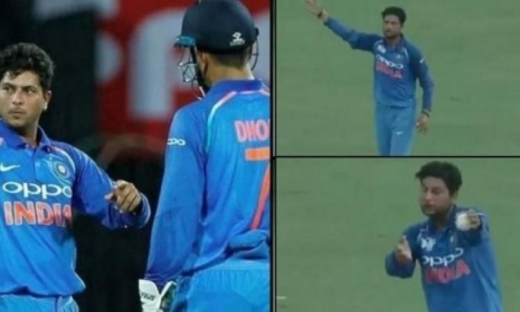WATCH धोनी ने अपनी कप्तानी में कुलदीप यादव को लगाई फटकार, कहा गेंदबाजी करेगा या बॉलर चेंज करूं Image
