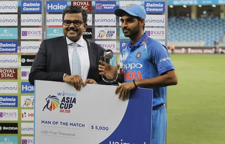 Player Of The Match   Bhuvneshwar Kumar Images