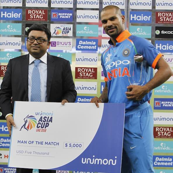 Player Of The Match Shikhar Dhawan Images