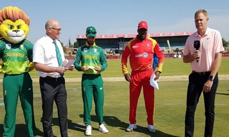 पहला वनडे: जिम्बाब्वे के खिलाफ साउथ अफ्रीका के गेंदबाजो का कमाल, जानिए अपडेट Images