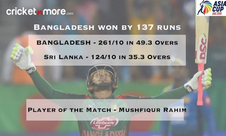 SL vs Bangladesh