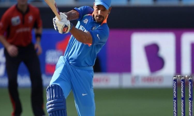 शिखर धवन के शतक के कारण भारत पहुंचा 285 रन पर, हांगकांग को जीत के लिए 286 रन की दरकार Images