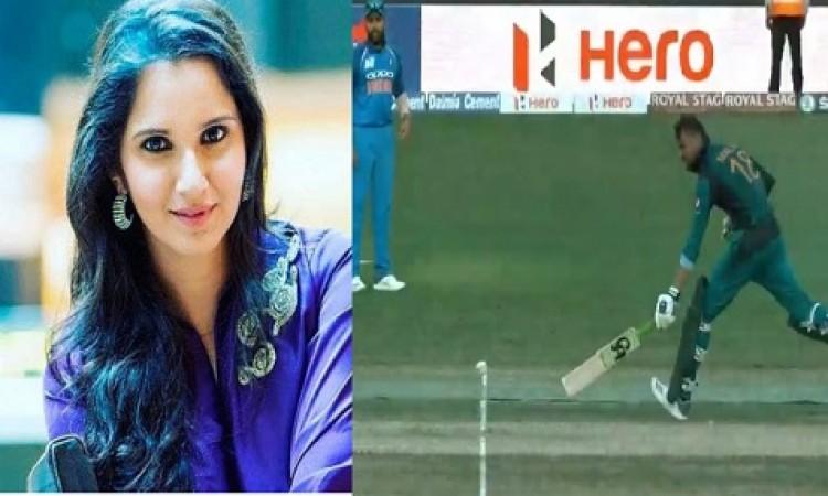 WATCH:  सानिया मिर्जा के पति शोएब मलिक से हो गई गलती और इस तरह से हुए रन आउट Images