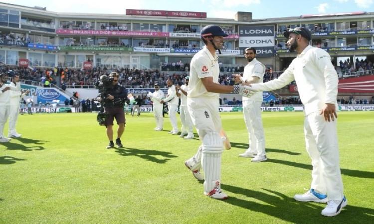 एलिस्टर कुक के आखिरी टेस्ट में कोहली ने ऐसा कर हर किसी का दिल जीत लिया WATCH Images