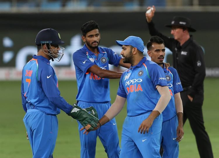 Team India After Winning The Match Images