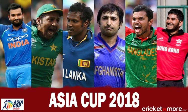 asia cup 2018 complete squads and schedule