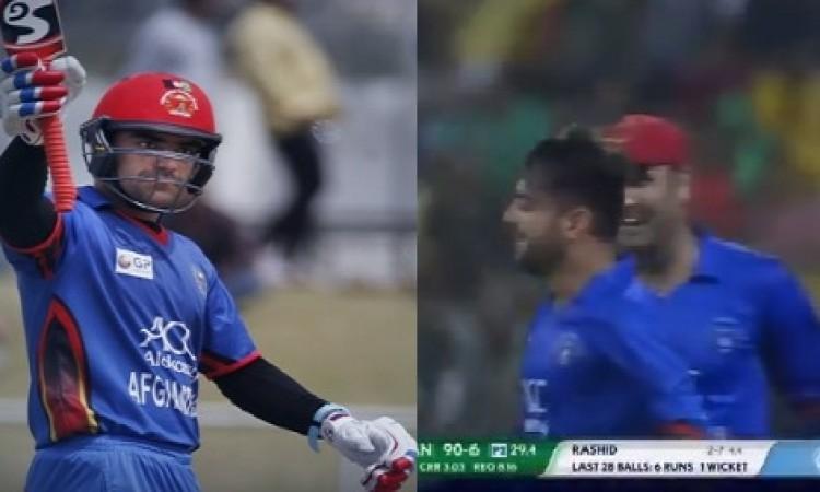 बर्थडे बॉय राशिद खान के ऑलराउंड परफॉर्मेंस के आगे बांग्लादेश के शेर हुए चित, अफगानिस्तान 136 रनों से