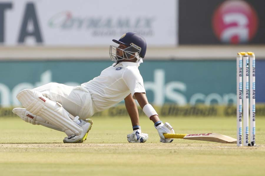 Indias Prithvi Shaw During The 1st Test Match Between India And West Indies At Saurashtra Cricket As