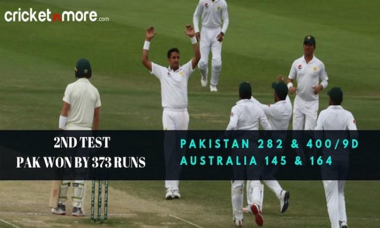 Pakistan vs Australia in UAE in 2018
