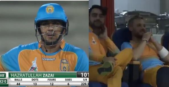 WATCH अपने देश के युवा बल्लेबाज की बल्लेबाज देख गदगद हुए राशिद खान, दिया ऐसा रिएक्शन Images