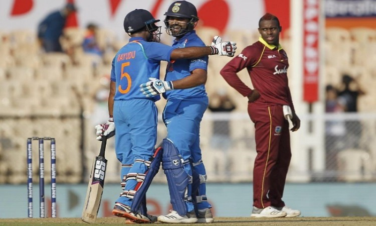 4th ODI: Rohit, Rayudu tons power India to 377/5 Images
