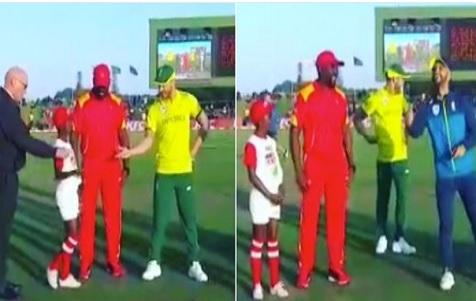 WATCH जब कप्तान फाफ डुप्लेसी ने पहले टी20 में 'लकी' डुमिनी से कराया टॉस, फिर हुआ ऐसा Images
