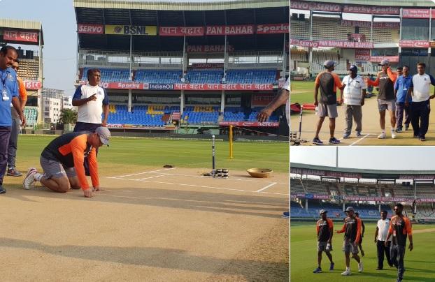 दूसरे वनडे से पहले धोनी का दिखा कप्तानी वाला रूप, खुद पिच का निरीक्षण कर बनाई रणनीति Images