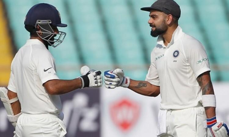 कोहली और पंत की धमाकेदार पारी, लंच तक भारत ने बनाए 506 रन Images