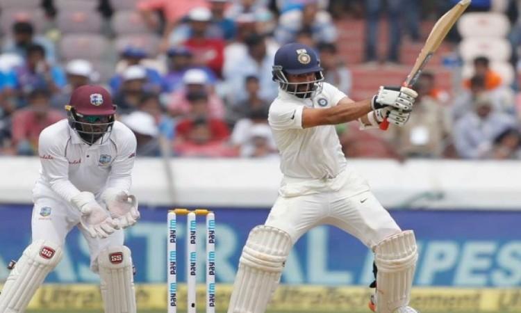 हैदराबाद टेस्ट में भारत ने पहली पारी में बनाए 308/4, रहाणे और पंत शतक के करीब Images