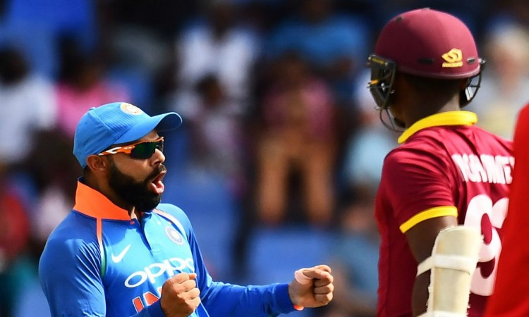 India to bat vs West Indies in 4th ODI Images