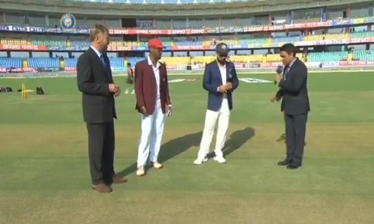 वेस्टइंडीज के खिलाफ पहले टेस्ट में भारत ने जीता टॉस, पहले बल्लेबाजी करने का फैसला Images