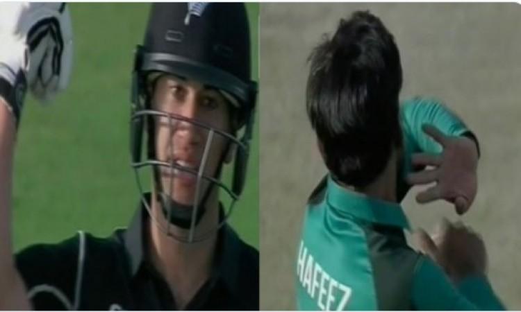 WATCH पहले वनडे में रॉस टेलर ने मोहम्मद हफीज की गेंदबाजी का इस शर्मनाक ढ़ंग से उड़ाया मजाक, पाकिस्ता