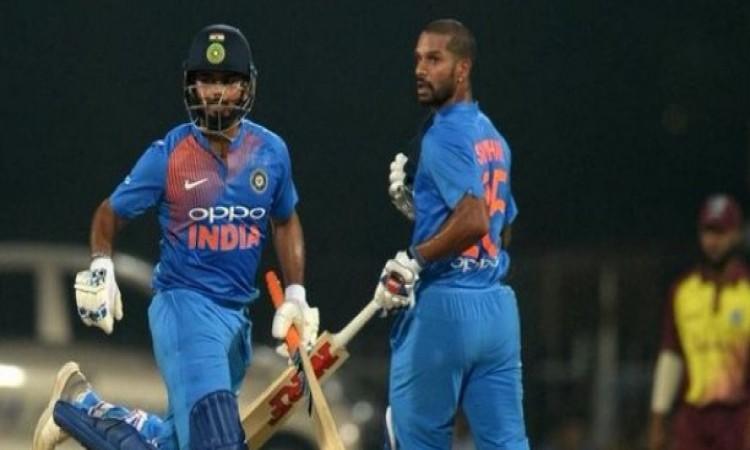 शिखर धवन और ऋषभ पंत ने तीसरे टी-20 में बना दिया दूसरा सबसे बड़ा रिकॉर्ड Images