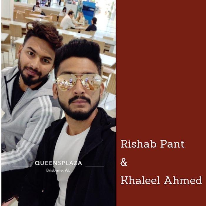 Rishab Pant  Khaleel Ahmed Images