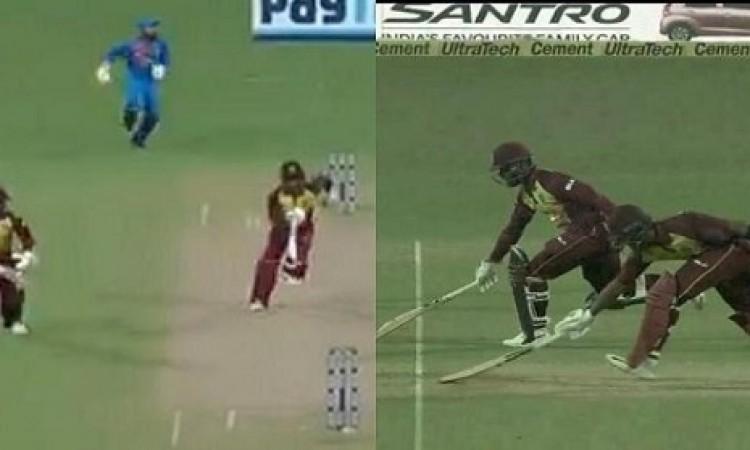 WATCH पहले टी-20 में वेस्टइंडीज के शिमरोन हेटमायर और शाई होप ने लगा दी ऐसी रेस, फिर हुआ कुछ ऐसा Imag
