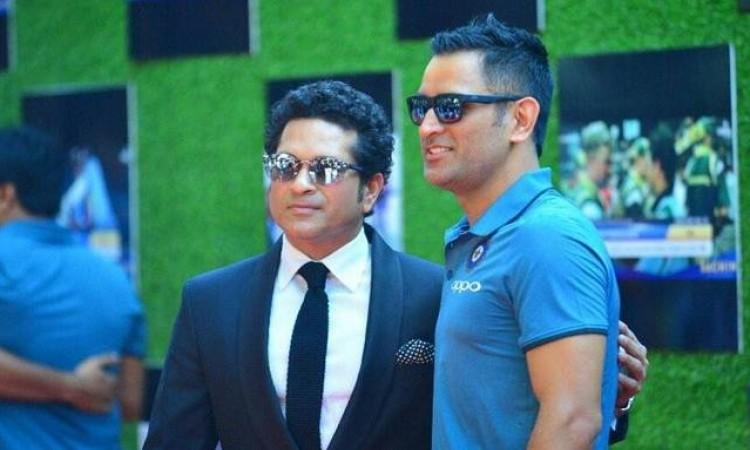 Sachin Tendulkar and ms dhoni