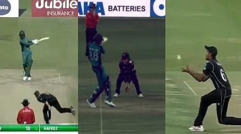 WATCH ईश सोढ़ी ने शोएब मलिक का लपका विश्वास नहीं करने वाला कैच, हर कोई कैच को देखकर है हैरान Images