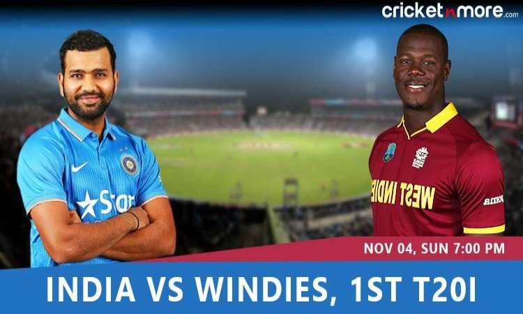 India vs West Indies 1st T20I