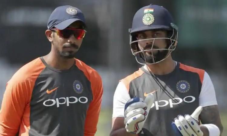 Virat Kohli and Jasprit Bumrah