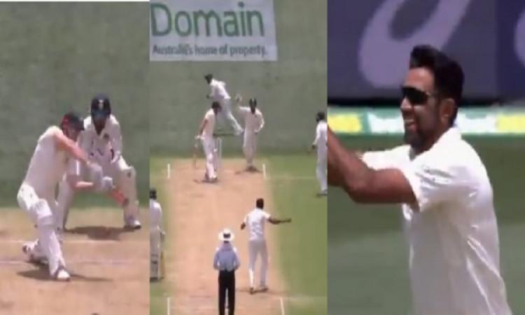WATCH देखिए शॉन मार्श को अश्विन ने अपनी ललचाई गेंद पर किया बोल्ड, खुद को देखते रह गया बल्लेबाज Image