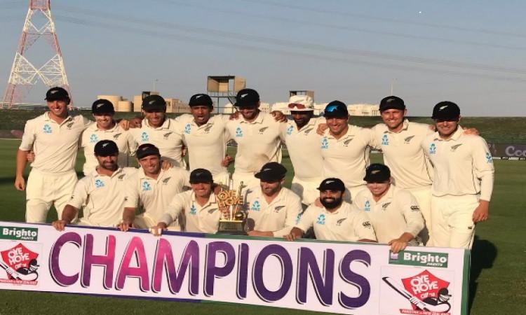 अबु धाबी टेस्ट में न्यूजीलैंड ने पाकिस्तान को हराकर रचा इतिहास, 49 साल बाद हुआ ऐतिहासिक कारनामा Imag