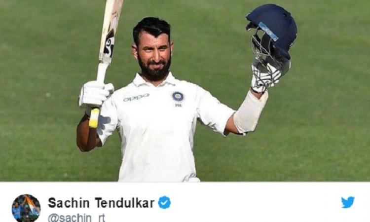 चेतेश्वर पुजारा के शतक को देखकर खुश हुए क्रिकेट के भगवान, लिख डाली ऐसी बात Images