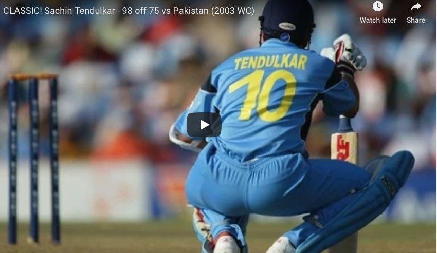 Sachin Tendulkar vs Pakistan