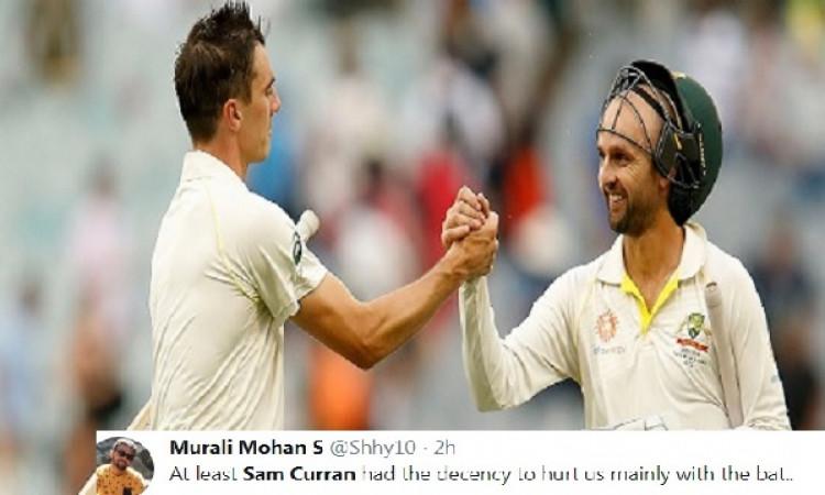 पैट कमिंस की बल्लेबाजी देखकर क्रिकेट फैन्स को क्यों आई इंग्लैंड के सैम कुरेन की याद, जानिए Images