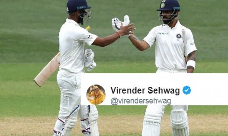 एडिलेड टेस्ट में कोहली नहीं बल्कि यह बल्लेबाज बनेगा हीरो, सहवाग ने की भविष्यवाणी Images