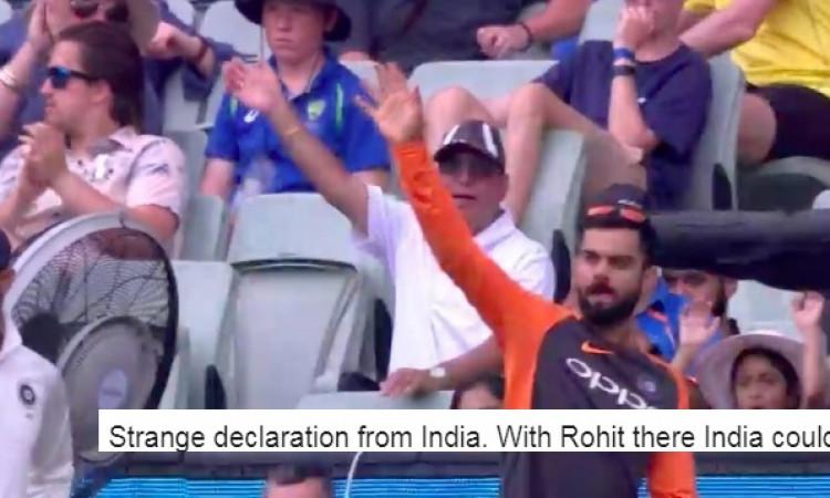 विराट कोहली के द्वारा पारी घोषित करने के फैसले से खफा हुआ यह भारतीय पूर्व क्रिकेटर Images