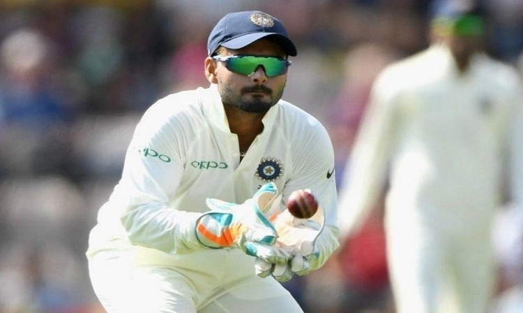 Rishabh Pant equals Dhoni's record of most catches in a Test Images