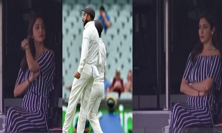एडिलेड टेस्ट में विराट कोहली को लाइव मैच में मिली सबसे बड़ी खुशखबरी, वाइफ अनुष्का पहुंची स्टेडियम Im