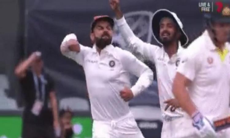 एडिलेड टेस्ट मैच में दिखा कोहली का आक्रमक अंदाज,  ऑस्ट्रेलियाई खिलाड़ियों की निकाली हवा Images