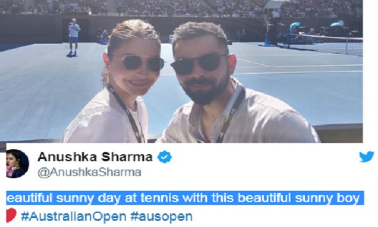 अनुष्का शर्मा 'sunny boy' के साथ आस्ट्रेलियन ओपन देखने पहुंची, देखिए  Images